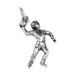 Anhänger Handball, Charms in Silber und Gold