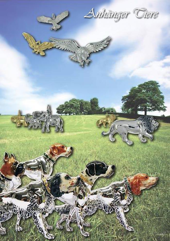 Anhänger Tiermotive in Silber und Gold