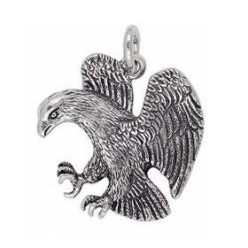 Anhänger Adler in echt Sterling-Silber oder Gold, Ketten- oder Schlüssel-Anhänger