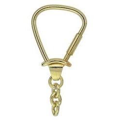 Schlüsselring mit Kette & Schraubverschluss, Schlüsselmechanik in Gelbgold 333 für Anhänger
