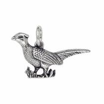 Anhänger Vögel: Fasane, Charms in Silber & Gold
