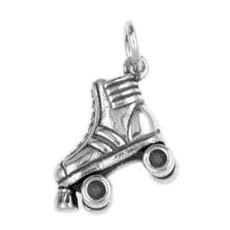 Anhänger Rollschuh, Roller Skate in echt Sterling-Silber 925 oder Gold, Charm, Ketten- oder Bettelarmband-Anhänger