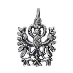 Anhänger Tiroler Adler, Wappen in echt Sterling-Silber oder Gold, Charm, Ketten- oder Bettelarmband-Anhänger