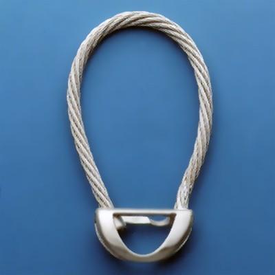 Seil-Schlüsselring, Schlüsselmechanik mit Druckverschluss in echt Silber 925 für Anhänger