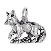 Anhänger Fuchs in echt Sterling-Silber oder Gold, Charm, Ketten- oder Bettelarmband-Anhänger