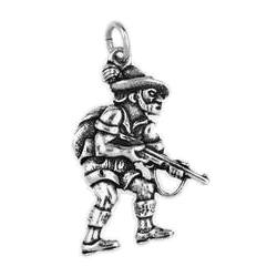 Anhänger Jagd, Jagen, Charms in Silber und Gold