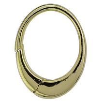 Schlüsselring-Karabiner oval mit Schnappverschluss, Schlüsselmechanik in Gelbgold 333, 585 oder 750 für Anhänger