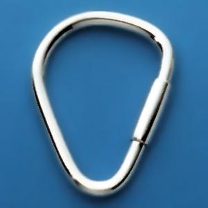 Schlüsselring mit Schraubverschluss, Schlüsselmechanik in echt Silber 925 für Anhänger