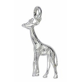 Anhänger Giraffe in echt Sterling-Silber oder Gold, Charm, Ketten- oder Bettelarmband-Anhänger
