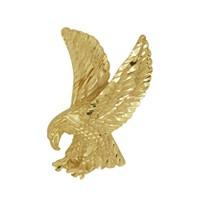 Anhänger Adler in echt Sterling-Silber oder Gelbgold, Charm, Ketten- oder Bettelarmband-Anhänger