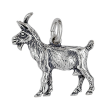 Anhänger Ziegen, Charms in Silber & Gold