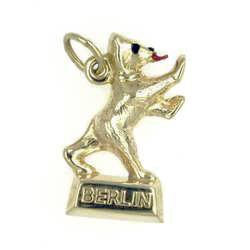 Anhänger Berliner Bär In Echt Gold Charm N5050 Juwelier Weber