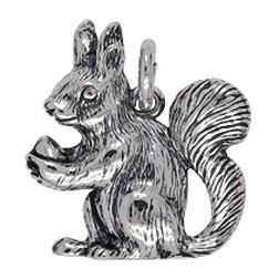 Anhänger Eichhörnchen in echt Sterling-Silber oder Gelbgold, Charm, Kettenanhänger oder Schlüssel-Anhänger