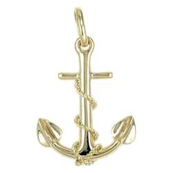 Anhänger Anker mit Trosse in echt Sterling-Silber 925 oder Gold, Ketten- oder Schlüssel-Anhänger
