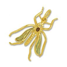 Anhänger Mücke, Schnake in echt Sterling-Silber 925 oder Gelbgold mit oder ohne Email, Ketten- oder Schlüssel-Anhänger