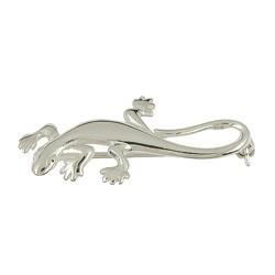 Brosche Eidechse, Salamander, Gecko in echt Sterling-Silber oder Gold