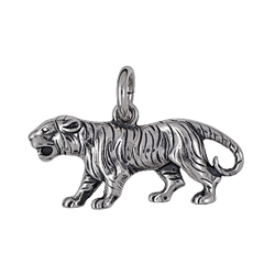 Anhänger Tiger, Charms in Silber & Gold