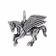 Anhänger Pegasus, Pegasos, Charms in Silber & Gold