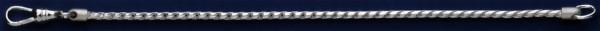 Schlüsselkette mit Karabiner, Schlüsselmechanik in Sterling-Silber 925/000 für Anhänger