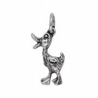 Anhänger Ente in echt Sterling-Silber 925 oder Gold, Charm, Ketten- oder Bettelarmband-Anhänger