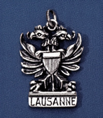 a04aa6055b ... Vorschau: Anhänger Lausanner Adler in echt Sterling-Silber oder Gold,  Charm, Ketten