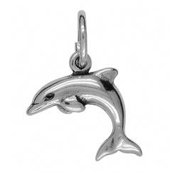 Anhänger Delfine, Delphine, Deflinflossen, Delphinflossen, Charms in Silber & Gold