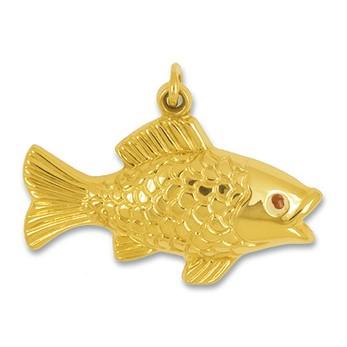 Anhänger Fisch in Gold, Charm N1026