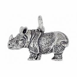 Anhänger Nashörner, Rhinozerosse, Rhinoceroses, Charms in Silber & Gold