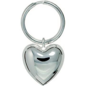 Herz mit Spaltring, Schlüsselring, Schlüsselmechanik in Silber 925 für Anhänger.