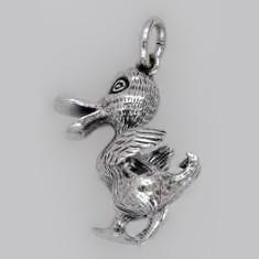 Anhänger Ente in echt Sterling-Silber oder Gold, Ketten- oder Schlüssel-Anhänger
