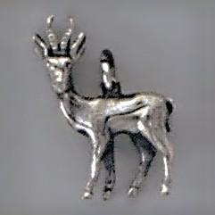 Anhänger Springbock in echt Sterling-Silber oder Gold, Charm, Kettenanhänger oder Bettelarmband-Anhänger