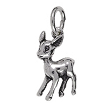Anhänger Bambis, Charms in Silber & Gold