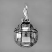 Anhänger Boule, Pétanque, Charms in Silber und Gold