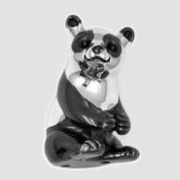Zierfigur Pandabär echt Sterling-Silber 925, Standmodell