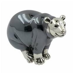 Zierfigur Eisbär echt Sterling-Silber 925, Standmodell