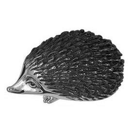 Zierfigur Igel in echt Sterling-Silber 925 teilgeschwärzt, Standmodell