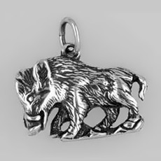 Anhänger Wildschwein in echt Sterling-Silber oder Gold, Charm, Ketten- oder Bettelarmband-Anhänger