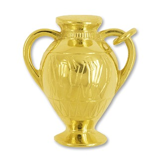 Anhänger Amphore, Amphora in echt Gold, Charm, Ketten- oder Bettelarmband-Anhänger