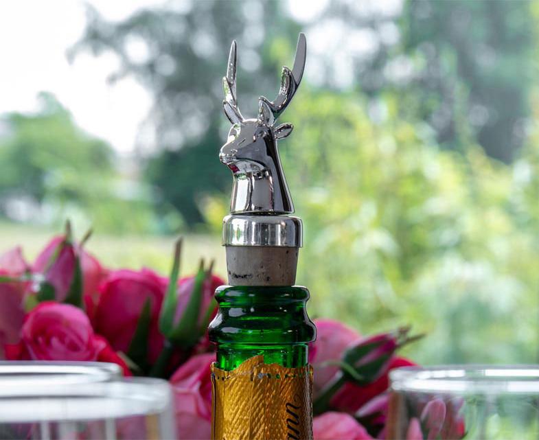 Flaschenverschlüsse, Korken hochwertig versilbert