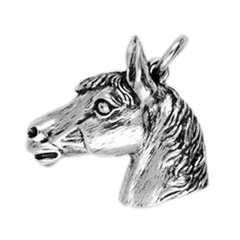 Anhänger Pferdeköpfe, Charms in Silber & Gold
