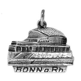 Anhänger Bonn, Beethovenhalle in echt Sterling-Silber 925 oder Gold, Charm, Ketten- oder Bettelarmband-Anhänger