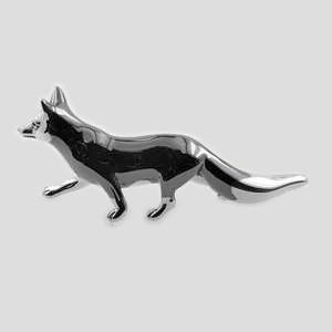 Zierfigur Fuchs in echt Sterling-Silber, Standmodell