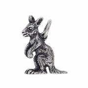 Anhänger Känguru in echt Sterling-Silber 925 oder Gold, Charm, Ketten- oder Bettelarmband-Anhänger