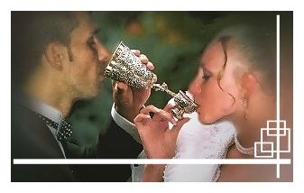 Brautbecher, Hochzeitsbecher in echt Silber 800, 835 / 925