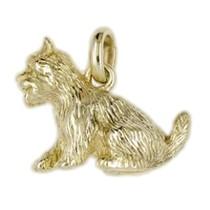 Anhänger West Highland White Terrier, Hund in echt Sterling-Silber 925 oder Gold, Ketten- oder Schlüssel-Anhänger