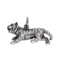 Anhänger Chinesischer Tiger, Tierkreiszeichen in echt Sterling-Silber 925 oder Gold, Ketten- oder Schlüssel-Anhänger
