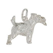 Anhänger Terrier, Hund in echt Sterling-Silber 925, Ketten- oder Schlüssel-Anhänger