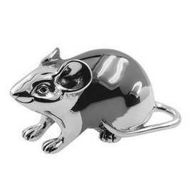 Zierfigur Maus in echt Sterling-Silber 925, Standmodell