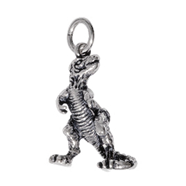 Anhänger Dinosaurier, Charms in Silber & Gold