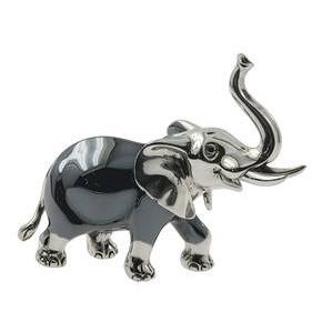 Zierfigur Elefant in echt Sterling-Silber 925, Standmodell